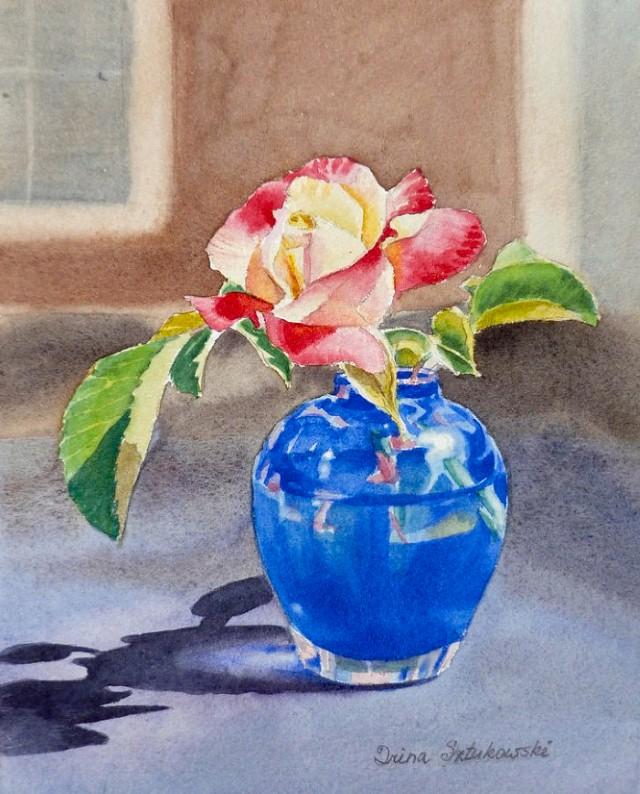 Цветы и цветочные натюрморты акварелью. Irina Sztukowski 23