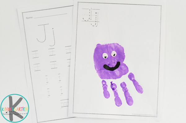 letter j worksheets or kids