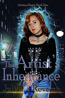 The Artist's Inheritance by Juli D. Revezzo, urban fantasy, modern witches, 99cent sale, beach reading, July 4th sale