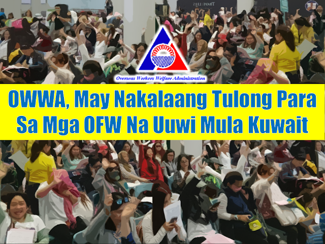 "The Department of Labor and Employment imposed a total deployment ban for OFWs bound for Kuwait. The ban covers all types of workers being deployed for the first time, regardless of their skill, profession, or type of work. The deployment ban is in response to the directive of President Rodrigo Duterte due to a number of cases of deaths and abuses of overseas Filipino workers (OFW) in Kuwait. As the ban is extended indefinitely, OWWA is set to give cash assistance to affected OFWs.   Advertisement        Sponsored Links   Owwa Administrator Hans Leo Cacdac on a social media post aid they have approved the cash assistance for OFWs affected by the deployment ban to Kuwait via OWWA Board Resolution 14-2018.     He said the cash assistance will be in the amount of P5,000 for active members and P2,500 for inactive members. ""They can get further information through the nearest Owwa regional offices for the cash assistance,"" said Cacdac.   Welcome home! OWWA Administrator @HansLeoCacdac in a tweet yesterday reported that 74 OFWs from #Kuwait have returned and were welcomed by the OWWA.  May nakahandang tulong ang pamahalaan para sa uuwi mula Kuwait sa pamamagitan ng #OWWA Law na isinulong ni Sen @sonnyangara pic.twitter.com/P8qljW119t  — Angara ng Pinoy (@SonnyAngaraNews) March 23, 2018     Read More:  Skilled Workers In The UAE Can Now Have Maximum Of Two Part-time Jobs    Former OFW In Dubai Now Earning P25K A Week From Her Business    Top Search Engines In The Philippines For Finding Jobs Abroad    5 Signs A Person Is Going To Be Poor And 5 Signs You Are Going To Be Rich    Tips On How To Handle Money For OFWs And Their Families    How Much Can Filipinos Earn 1-10 Years After Finishing College?   Former Executive Secretary Worked As a Domestic Worker In Hong Kong Due To Inadequate Salary In PH    Beware Of  Fake Online Registration System Which Collects $10 From OFWs— POEA    Is It True, Duterte Might Expand Overseas Workers Deployment Ban To Countries With Many Cases of Abuse?  Do You Agree With The Proposed Filipino Deployment Ban To Abusive Host Countries?    ©2018 THOUGHTSKOTO  www.jbsolis.com"