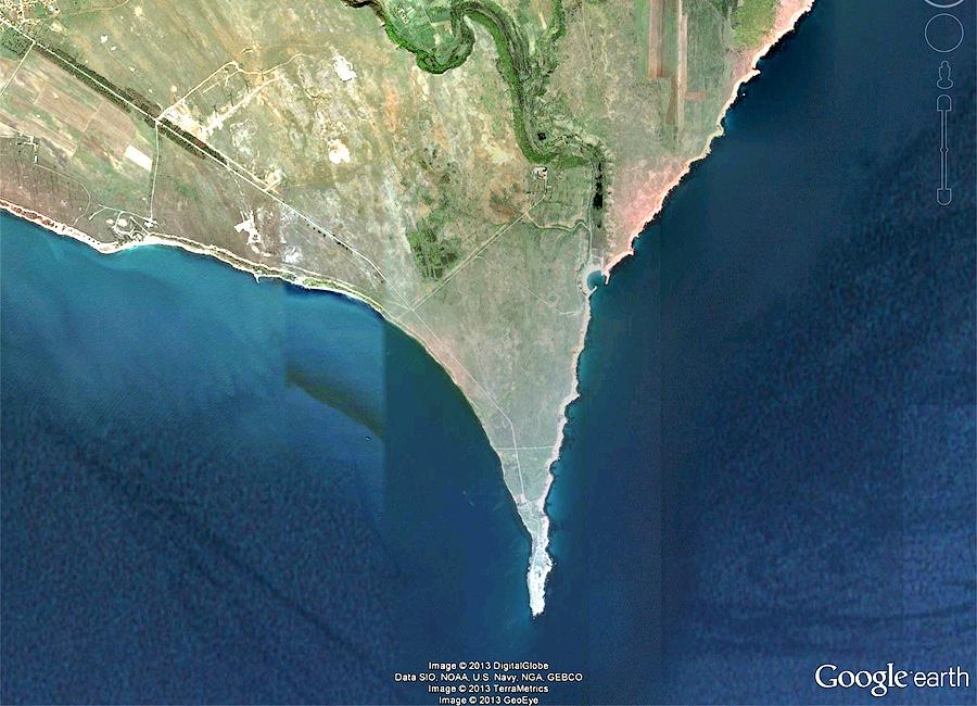 Мыс Калиакра, вид из космоса| Cape Kaliakra from above