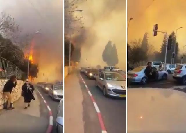 Kepanikan warga Israel dikejar api