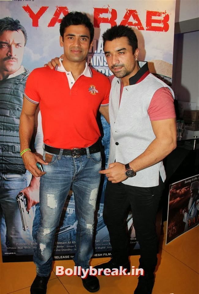 Sangram Singh and Ajaz Khan, Ajaz Khan and Arjumann Mughal at 'Ya Rab' Movie Special Screening