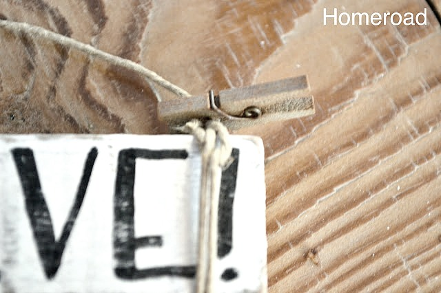 DIY rustic distressed ornaments with clothespin