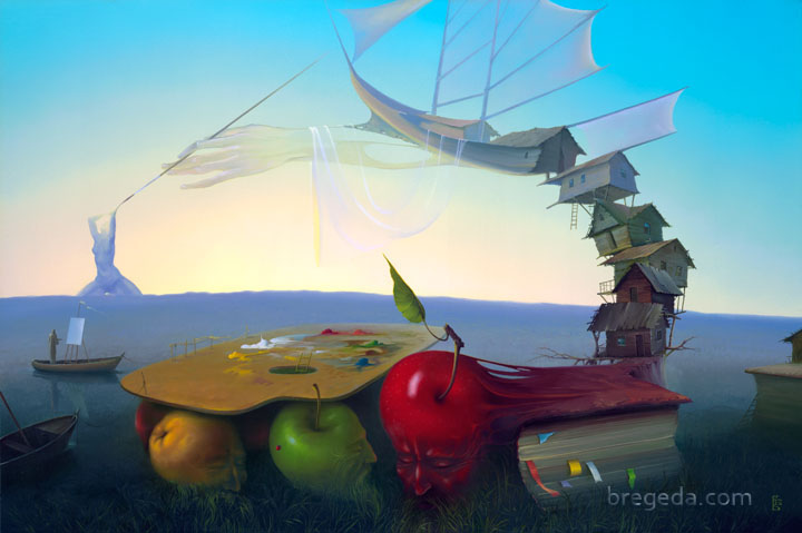 07-Fruits-of-Creation-Victor-Bregeda-Surreal-Paintings-Encapsulating-a-Message-www-designstack-co