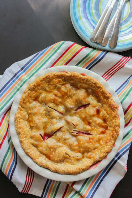 National Picnic Month - Strawberry Rhubarb Pie