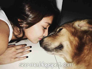 Foto Kathryn Bernardo cium Anjing