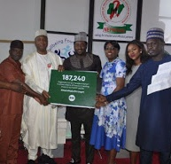 Desmond Elliot, Ali Nuhu and waje presents 187,000 petition to the senate