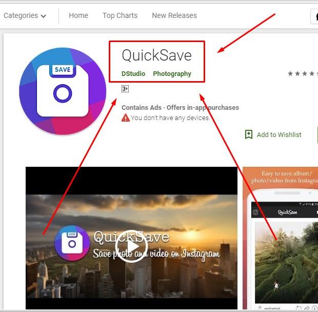 Cara Download Video di Instagram Lewat PC Via Aplikasi QuickSave 2019
