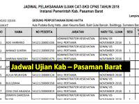 Jadwal dan Nama Peserta UJIAN CAT CPNS 2018 - Kabupaten Pasaman Barat, Download Disini !!!