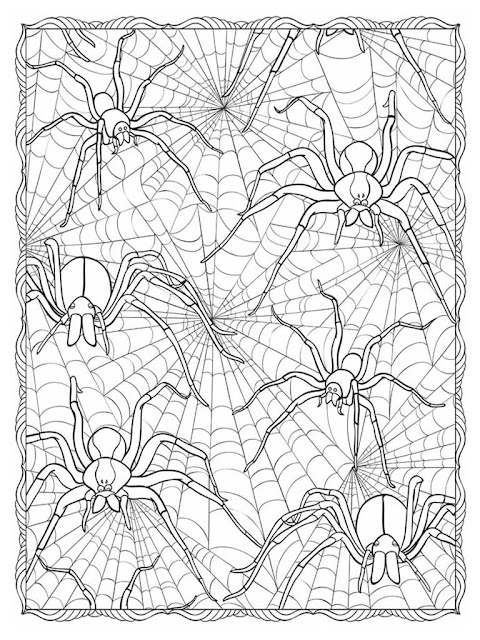 Halloween scapes coloring pages for adult free sample 1