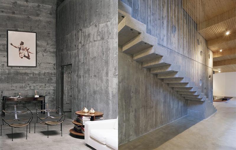El cemento como elemento decorativo maria victrix - Pared cemento pulido ...