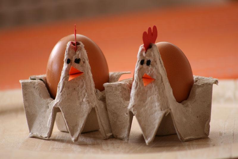 A casa di eli per l ora del tè galline portauovo segnaposto