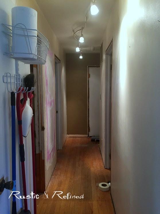 Skinny hallway decorating updates