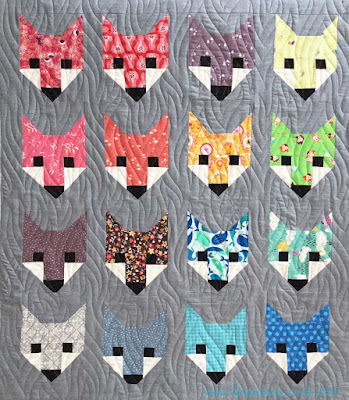 'Fancy Fox' baby quilt made by Penny, designed by Elizabeth Hartman, quilted by Frances Meredith
