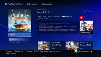 Naval Strike BF4 DLC Grátis PS4, PS3, XONE, Xbox 360, PC
