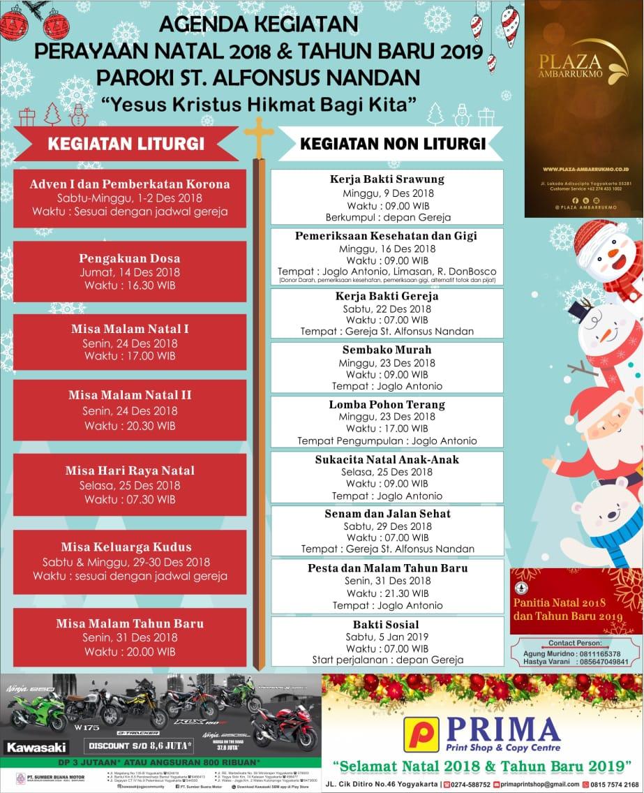 Agenda Kegiatan Natal 2018