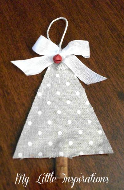 Decorazioni di Natale senza cuciture: Alberi di tessuto e cannella - 1 albero - MLI