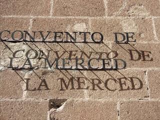 Letreiro na Entrada do Convento de la Merced, Cusco