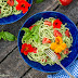 Cucumber Noodles with a Raw Pumpkin Seed Pesto Sauce (dairy-free, nut-free, grain-free)