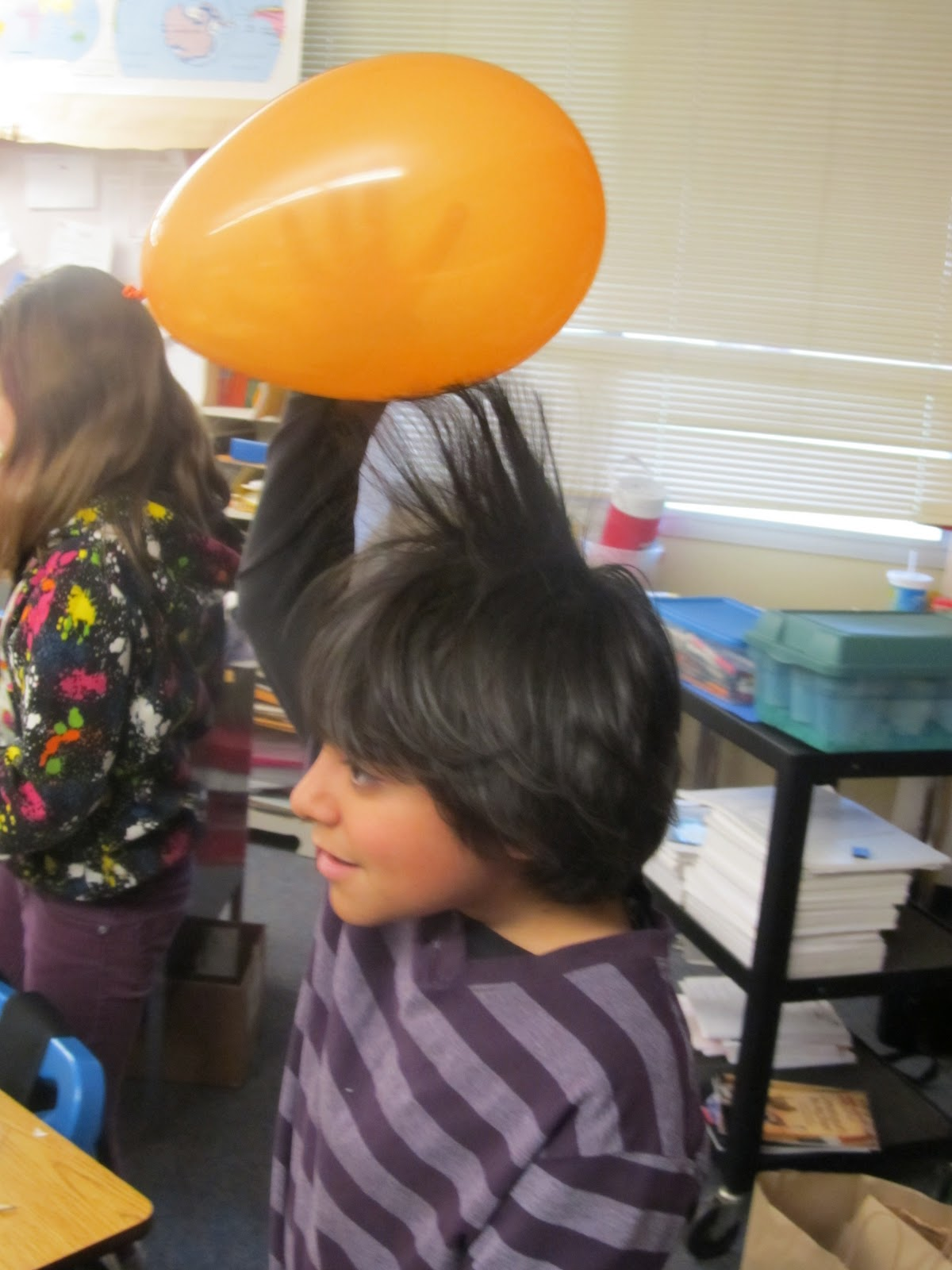 Love That Max : I am now as smart as a fourth grader |Static Electricity Science Project For Abstract