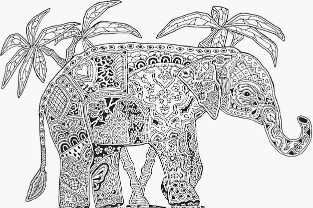 Coloring Pages Of Animals To Color Online  Animal Mandala Coloring Pages  On Animals With Animal