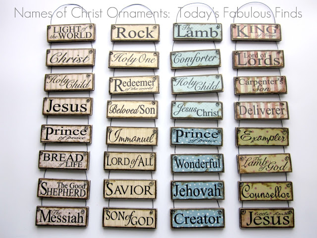 todays fabulous finds diy printable paint stick ornaments names and attributes of christ - Christmas Decorations Names