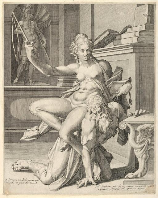 Johan Sadeler - Bartholomeus Spranger - Aristotele e Fillide - arte - sadismo e masochismo