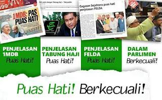 Image result for PAS puas hti dengan 1MDB dan Tabung haji on tumpang sekole