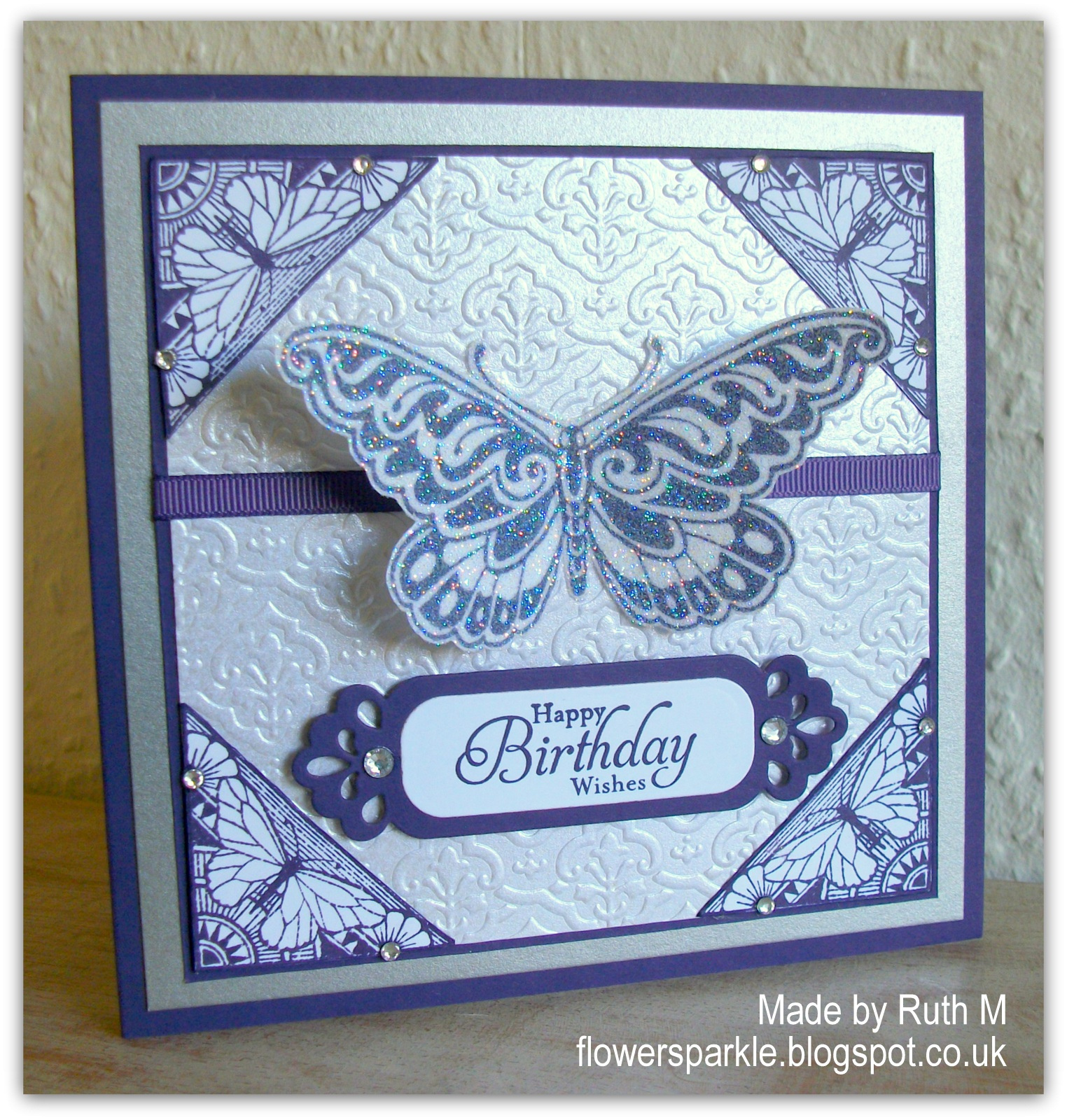 Flower Sparkle Sparkly Butterfly Happy Birthday Wishes Card Happy Birthday Wishes Butterfly