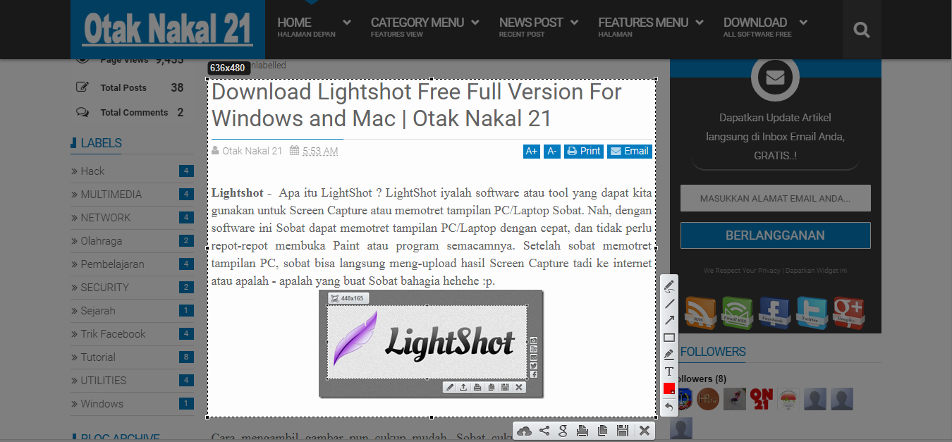 Download Lightshot Free Full Version For Windows and Mac | Otak