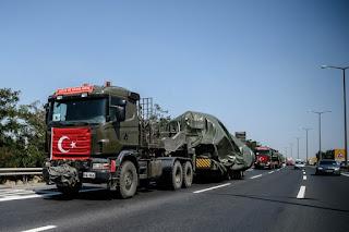 Turkish military convoy illegally enters northern Latakia
