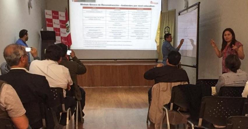 PRONIED brinda capacitación y asistencia técnica a gobiernos locales y regionales para reconstrucción de colegios en La Libertad - www.pronied.gob.pe