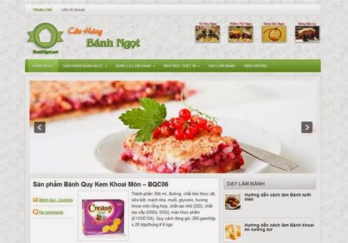 dịch vụ thiết kế web bán hàng bánh ngọt