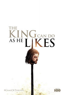 Game of Thrones Season 2 Teaser Television Poster - The King Can Do As He Likes