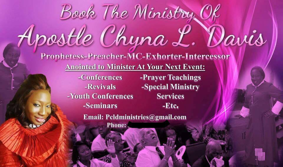 The Return Of Apostle Chyna L. Davis!
