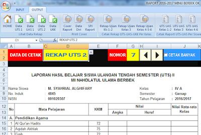 Mungkin tidak semua sekolah terutama madrasah raportnya menggunakan format kurikulum  Geveducation:  Raport Otomatis KTSP MI Terbaru