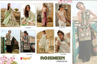 Fepic Rosemeen Crimson nx Pakistani Suits wholesale price