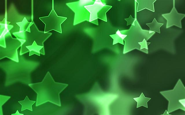 Groene achtergrond met sterren