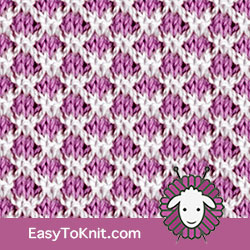 Slip Stitch Knitting 21: Lattice | Easy to knit #knittingstitches #knittingpattern