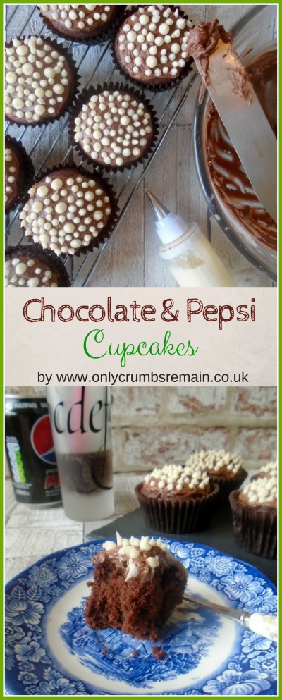 These Chocolate & Pepsi Cupcakes, containing Buckwheat flour, are easy to make using the melting method and result in a bake which is light and full of flavour.