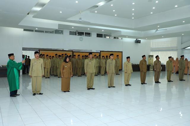 Pelantikan pejabat eselon di Pemkab Asahan.