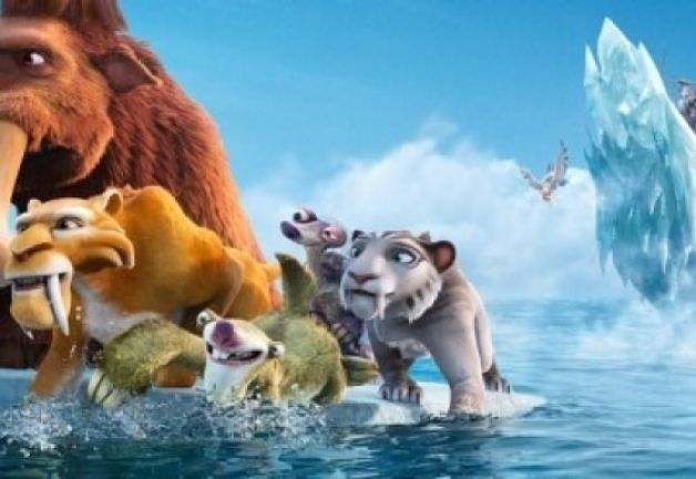The animals on an ice floe in  Ice Age: Continental Drift animatedfilmreviews.filminspector.com 2012