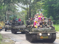 Yonkav 8 Kostrad Ajak Masyarakat Joyride Tank Scorpion