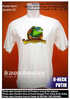 Kaos Gambar Iguana - Kode 02