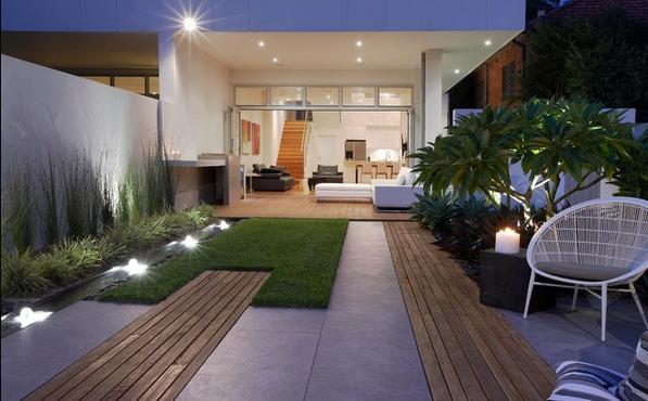 Fotos de jardin jardines de casa minimalistas - Jardines exteriores de casas modernas ...