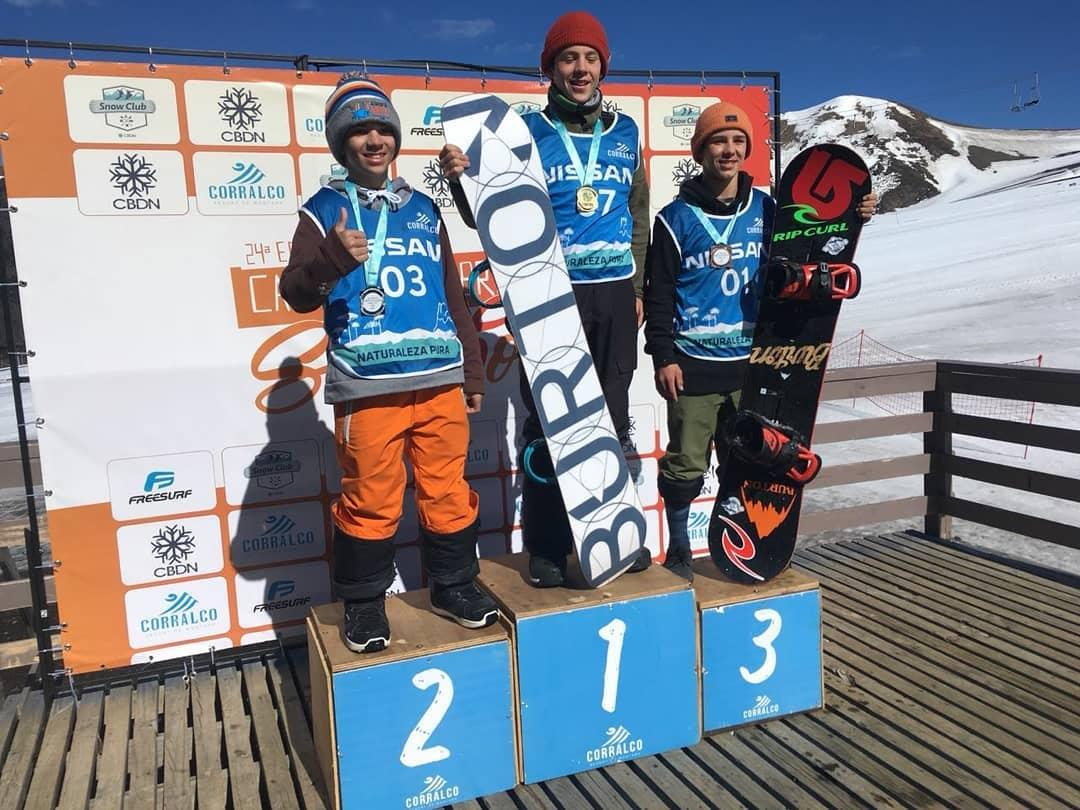 Jovem de 13 anos conquista título brasileiro de snowboard