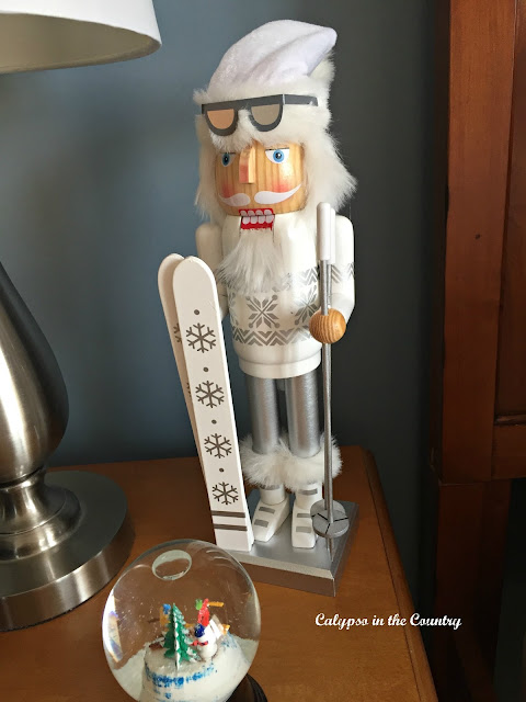 White Skiing Nutcracker