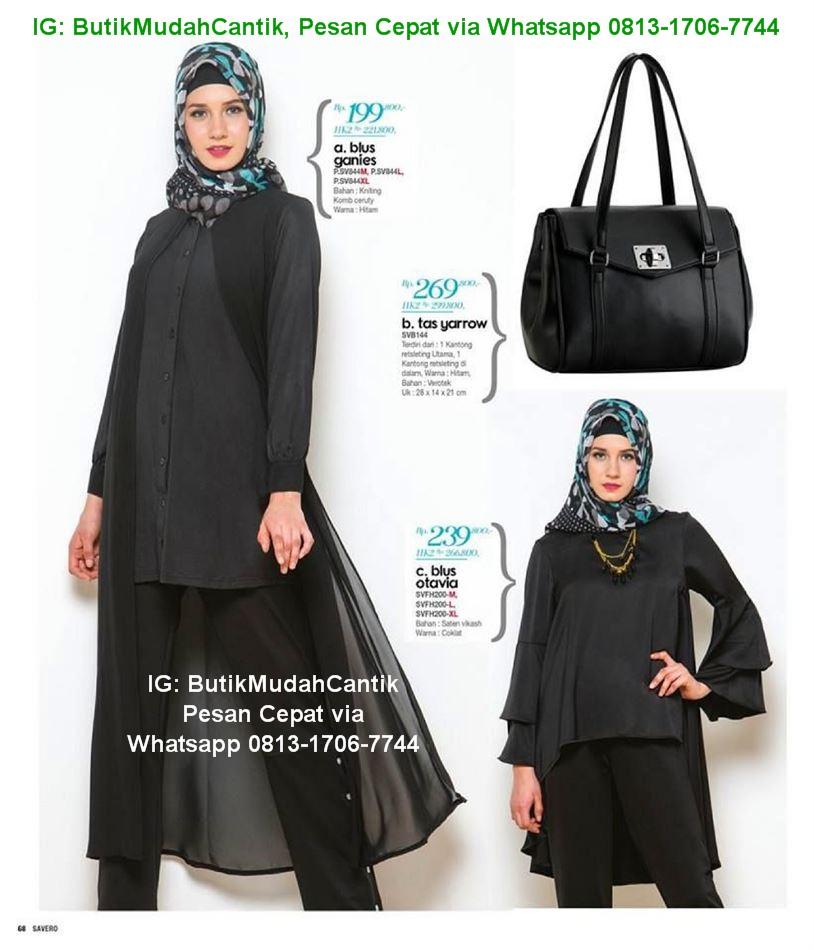 Gamis Kantor Baju Kerja Muslim Savero Fashion By Rika Whatsapp