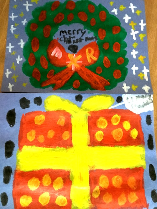 Kids Christmas card craft